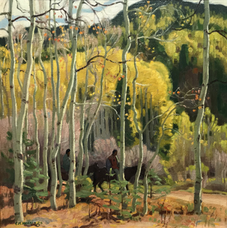 Thinning Aspens, ND E. Martin Hennings, 1886-1956 Taos Art Museum at Fechin House