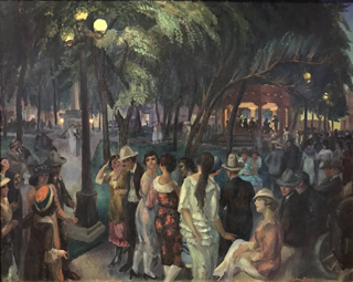 Music in the Plaza, 1920 John Sloan, 1871-1951 New Mexico Museum of Art, Sante Fe