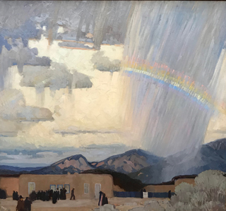 Pablita Passes (Walking Rain), c 1916-17 Victor Higgins, 1884-1949 New Mexico Museum of Art, Sante Fe
