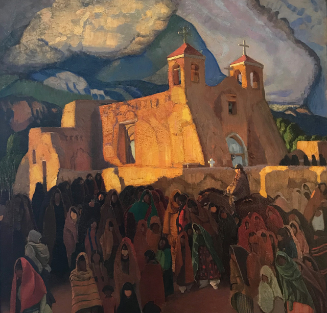 Church at Ranchos, 1921, repainted 1929 Ernest L. Blumenshein, 1874-1960 Blumenshein Home and Museum, Taos