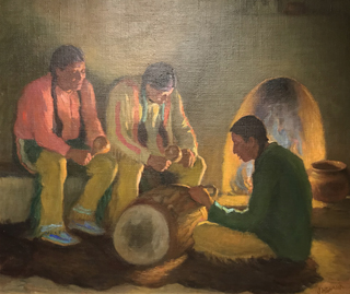 Fireside Chant, c 1920's Joseph Henry Sharp, 1859-1953 Blumenshein Home and Museum, Taos