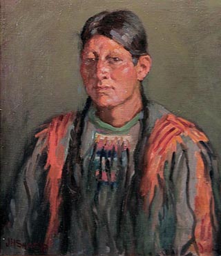 Jerry Mirabal, Taos in Sioux War Shirt, ND Joseph Henry Sharp, 1859-1953 Blumenshein Home and Museum, Taos