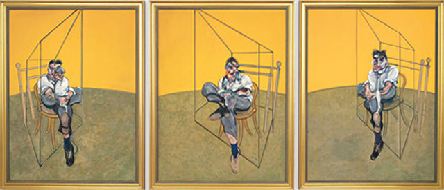 Three studies of Lucian Freud Francis Bacon
