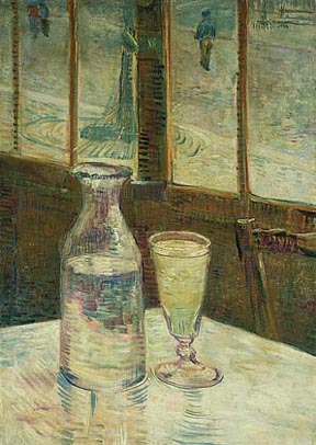 Vincent Van Gogh Glass of Absinthe and a Carafe