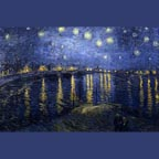 Vincent Van Gogh Starry Night on the Rhone Thumb