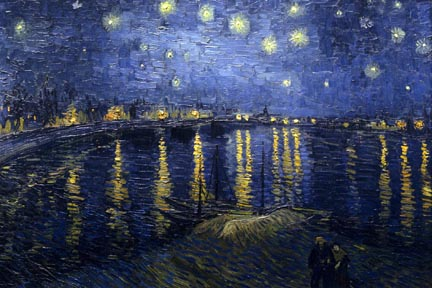 Vincent Van Gogh Starry Night Above the Rhone