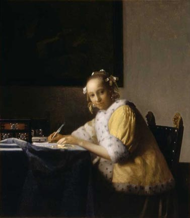 Johannes Vermeer A Lady Writing