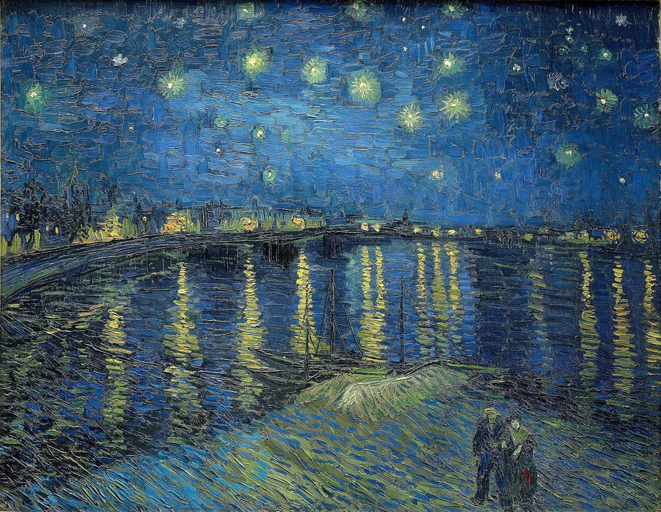 Vincent Van Gogh 1853-1890, Starry Night Over the Rhone , 1888