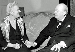 Lady and Sir Winston Churchill