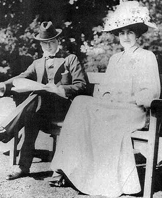 Younger Sir Winston and Lady Churchill
