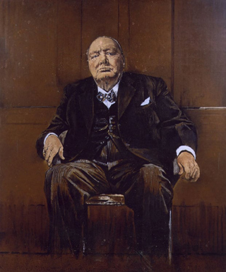 Winston Churchill Sutherland Portrait