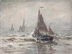 William Ritschel Boats in the Surf