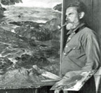William Ritschel at easel