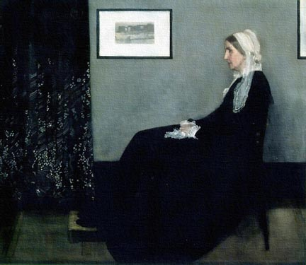 James Whistler Portrait of the Artists Mother