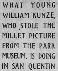 Explanatory NoteWilliam Kunze Article SF Call March 17 1912