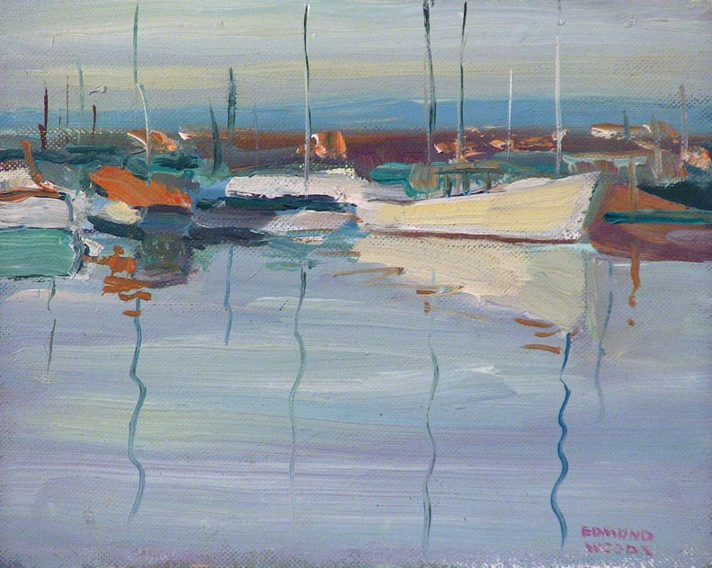 Edmond Woods Morning Boats
