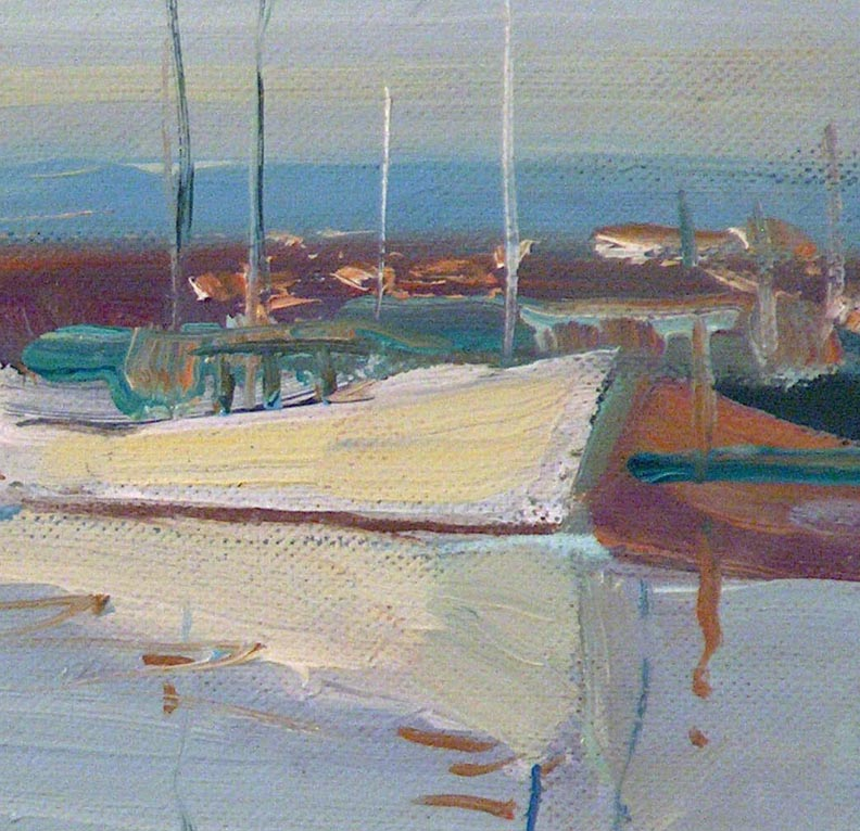 Edmond Woods Morning Boats Closeup