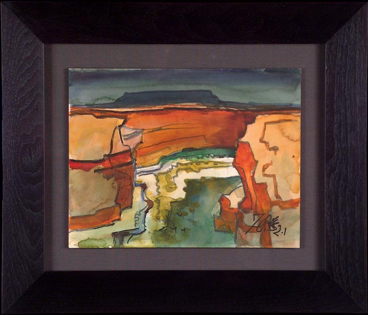 Milford Zornes Canyon de Chelly with frame