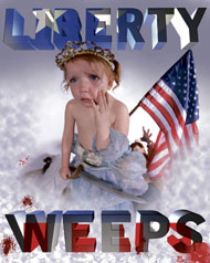 Elliott Earls Poster Liberty Weeps
